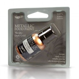 Pintura Comestible Metálica RD Dorado Oscuro Metálico (Metallic Dark Gold)