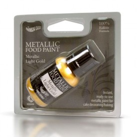 Pintura Comestible Metálica RD Dorado Suave Metálico (Metallic Light Gold)