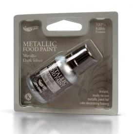 Pintura Comestible Metálica RD Plata Oscura Metálica (Metallic Dark Silver)
