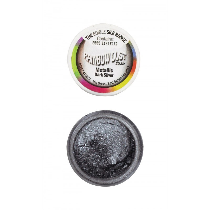 Colorante Comestible en Polvo RD Metallic Dark Silver