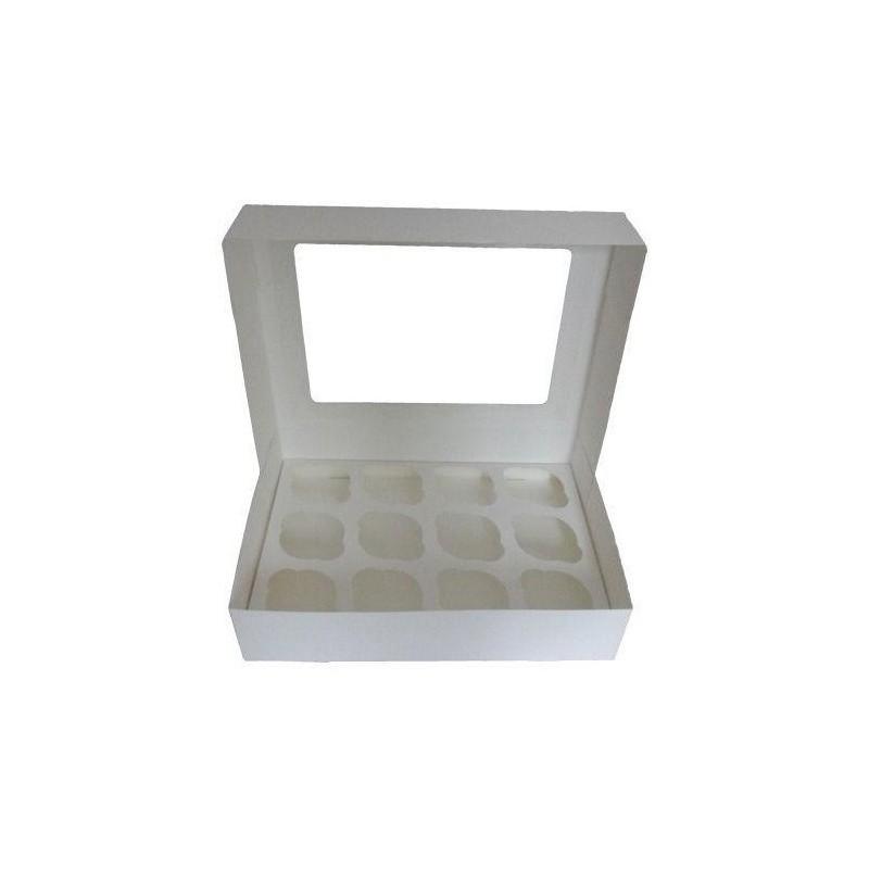 Caja para 12 Cupcakes con ventana Tartadictos