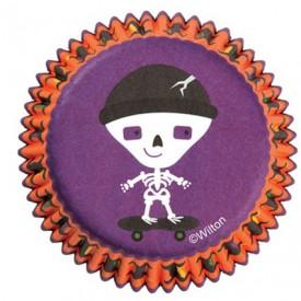 Cápsulas Wilton Halloween Esqueleto Junior 75 ud